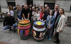 Bilbao se viste de color con la ruta de las 30 barricas solidarias