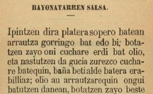 La salsa bayonesa con b