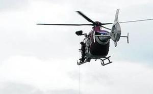 La Ertzaintza alquila un helicóptero para poder mantener los rescates