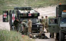 Heridos trece militares en un salto en paracaídas en Zaragoza