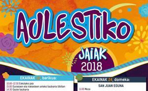 Programa de fiestas de Aulesti 2018: Aulestiko San Juan Jaiak