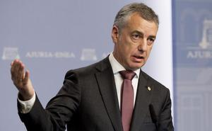 Urkullu: «Las enmiendas del PP penalizan dos proyectos básicos en Euskadi»