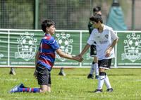 Fiesta del fútbol en el centro BBK Urdaibai
