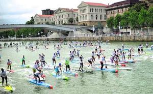 Booth y Piana brillan en la fiesta del Paddle Surf de Bilbao