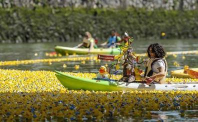 La ría se rinde un año más al ejército de patos de goma