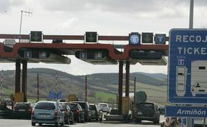 La autopista a Madrid será gratis desde Álava a partir de diciembre