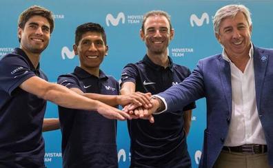 El Movistar junta a Landa, Quintana y Valverde para ir contra Froome