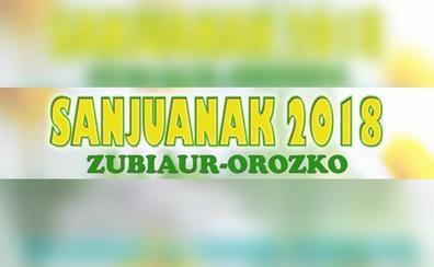 Programa de fiestas de Zubiaur - Orozko 2018: San Juanak