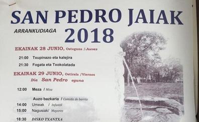 Programa de fiestas de Arrankudiaga 2018: San Pedro jaiak