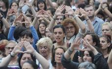 Euskadi sale a la calle para protestar con la puesta en libertad de 'La Manada'