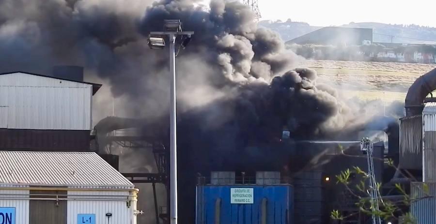 Controlado el incendio desatado en la planta de Nervacero de Trapagaran