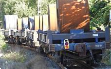 Restablecido el tráfico ferroviario tras el descarrilamiento de un mercancías en Güeñes