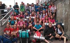 150 jóvenes de Etxebarri van al campamento de Rivabellosa andando