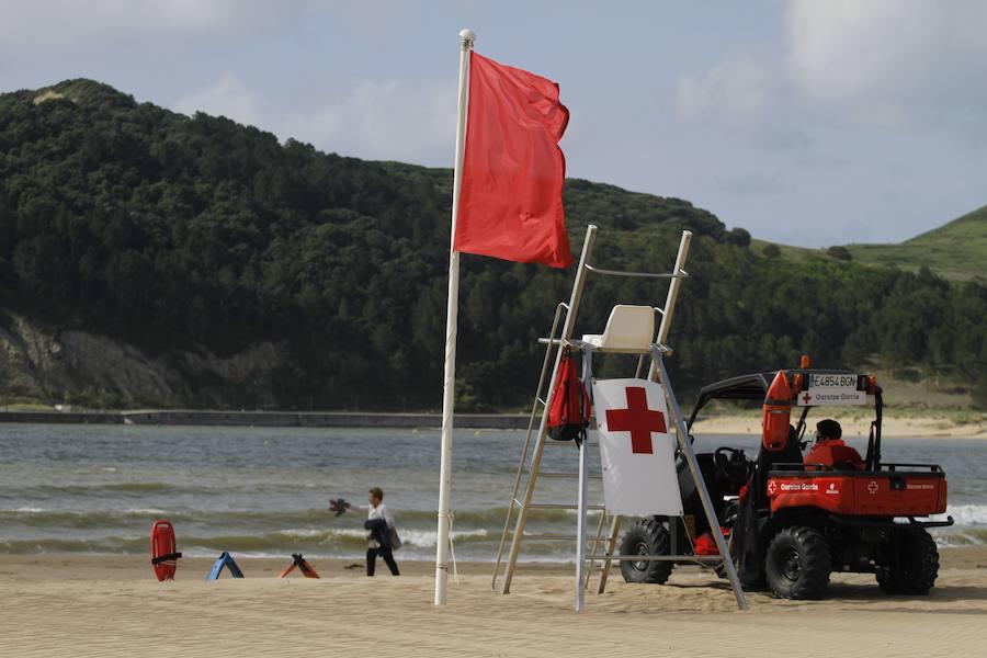 Frente común en Getxo para aclarar la contaminación fecal de las playas