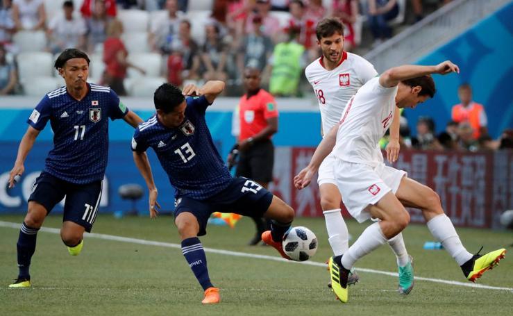 Japón-Polonia, en imágenes