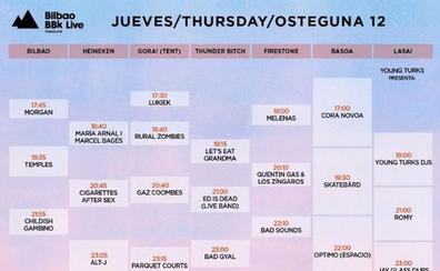 Horarios de los conciertos del jueves en el BBK Live 2018