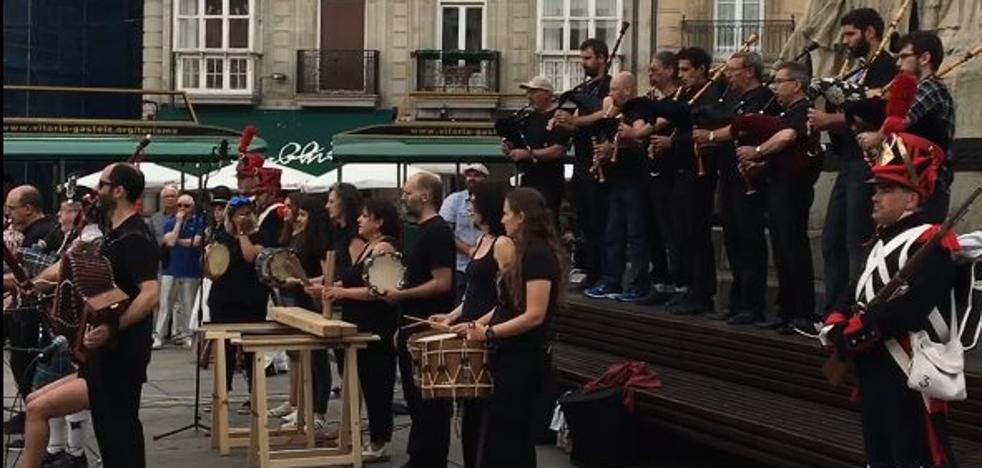 La música, protagonista en los actos del 205º aniversario de la Batalla de Vitoria