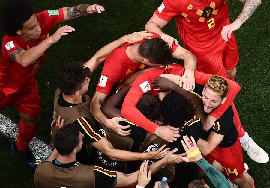 Las mejores imágenes del Bélgica-Japón