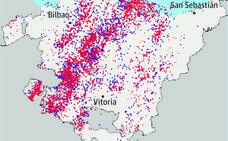 La tormenta dejó en Álava 1.600 rayos en diez minutos