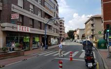 Comienzan los trabajos previos para peatonalizar la principal arteria comercial de Leioa