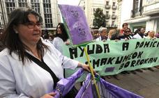 Trabajadoras de ayuda a domicilio de Álava mantienen sus paros para septiembre