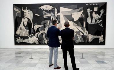 El Rey y Obama, frente al Guernica