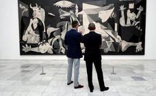El Rey y Obama, juntos ante el 'Guernica'