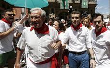 Pablo Casado, increpado en su visita a los sanfermines