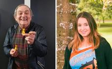 El actor Zorion Egileor y la comparsera Saioa Domínguez, pregonero y txupinera de Aste Nagusia