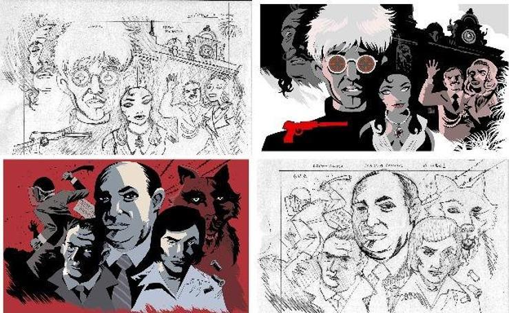 El 'making of' de las ilustraciones del serial