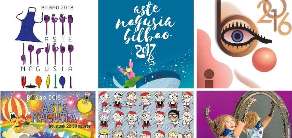 Los diseñadores creen que los últimos carteles de fiestas de Bilbao «no están a la altura»