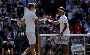 Anderson desaloja a Federer de su 'jardín'