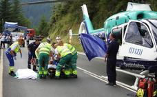 Herido en una colisión frontal entre un coche y un camión en Zeanuri