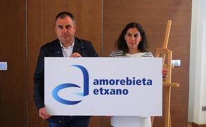 Amorebieta tiñe de azul la imagen que identifica al municipio