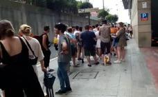 Largas colas para subir a Kobetamendi en la primera jornada del BBK Live