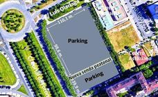 Una nueva senda peatonal partirá en dos el parking de Lakua-Arriaga