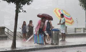 Euskalmet pronostica un fin de semana revuelto, con tormentas, ratos de sol y calor