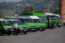 Los nuevos vehículos de la limpieza de Bilbao, más silenciosos y seguros