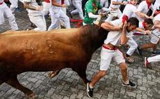 Un alavés herido en el último encierro de San Fermín