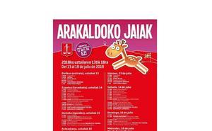Programa de fiestas de Arakaldo 2018: Santa Marina Jaiak