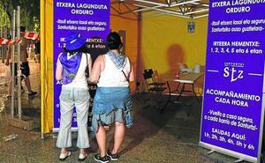Vigilantes de seguridad han acompañado ya a 147 chicas por la noche en fiestas de Santurtzi