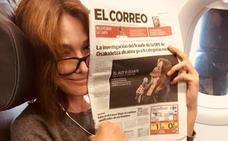 Y Carla Bruni se marchó con EL CORREO bajo el brazo