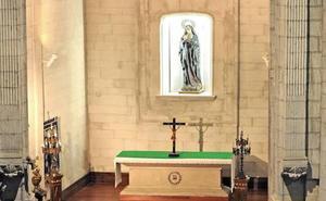 La Ertzaintza recupera una corona de plata robada a la Virgen en una iglesia de Vitoria
