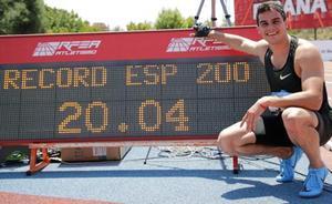 Bruno Hortelano bate su récord de España de 200 con 20.04