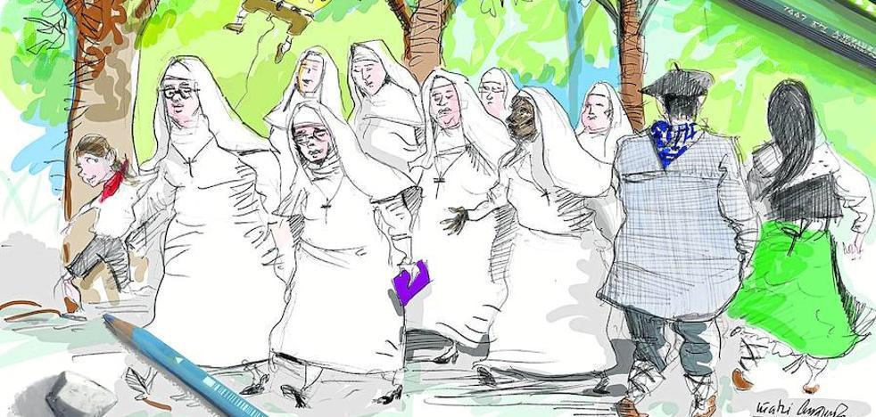 Doce monjas con piedad