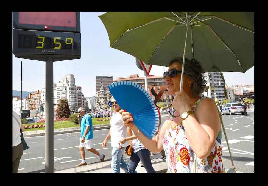 La ola de calor abrasa Bizkaia