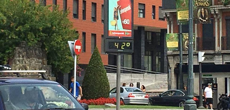 La ola de calor en Bizkaia pone los termómetros al rojo vivo