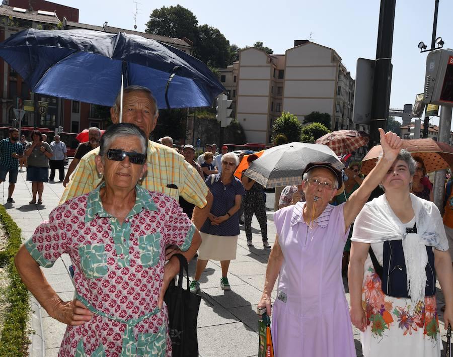 Nueva concentración de los pensionistas en Bilbao