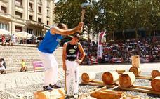 Los 'herri kirolak' arrastran al público hasta Los Fueros