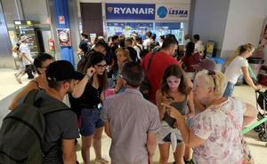 14.000 pasajeros afectados hoy en España por la huelga europea de pilotos de Ryanair